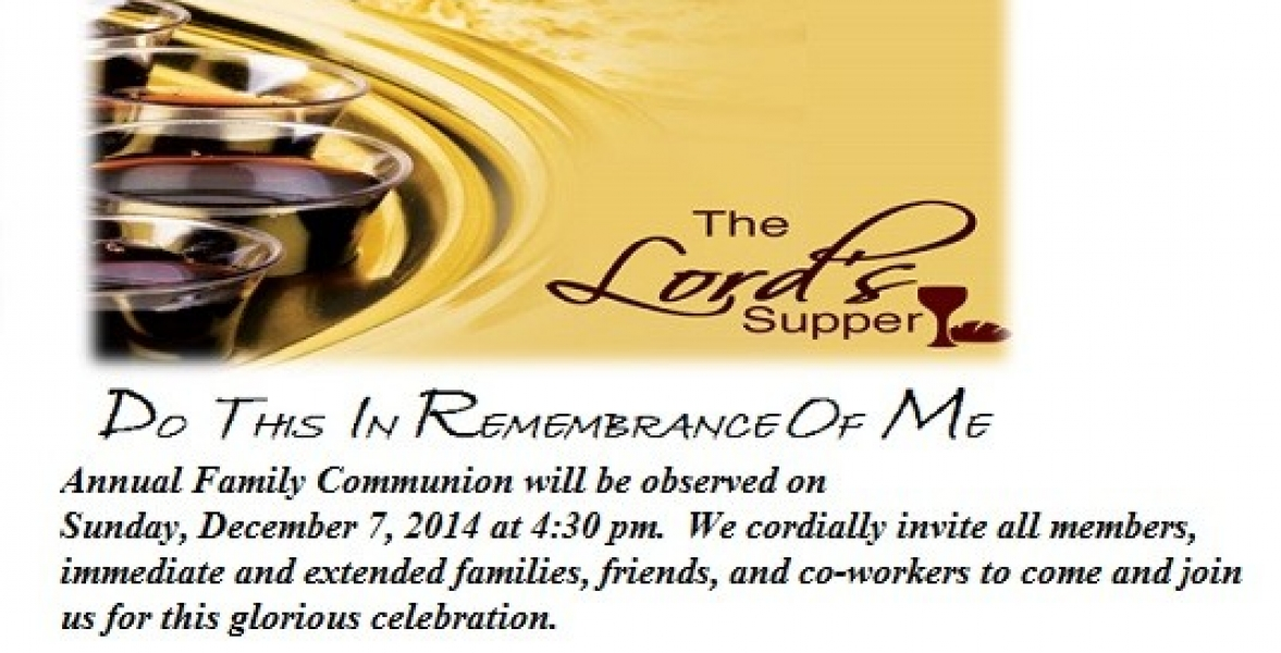 Annual Family Communion Flyer