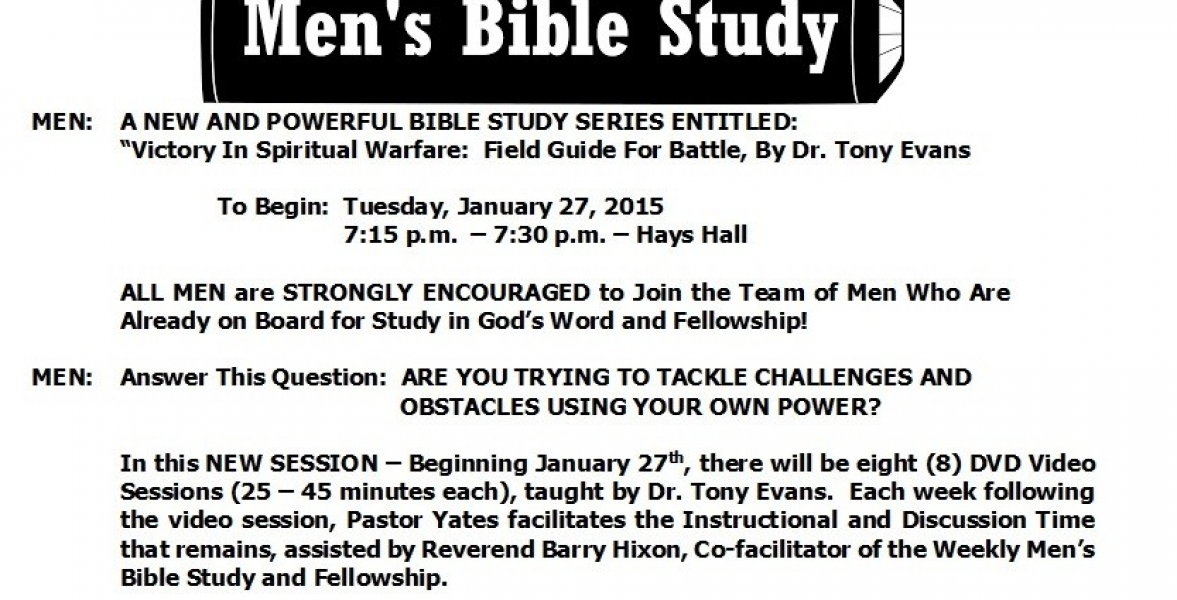 Mens Bible Study Fellowship