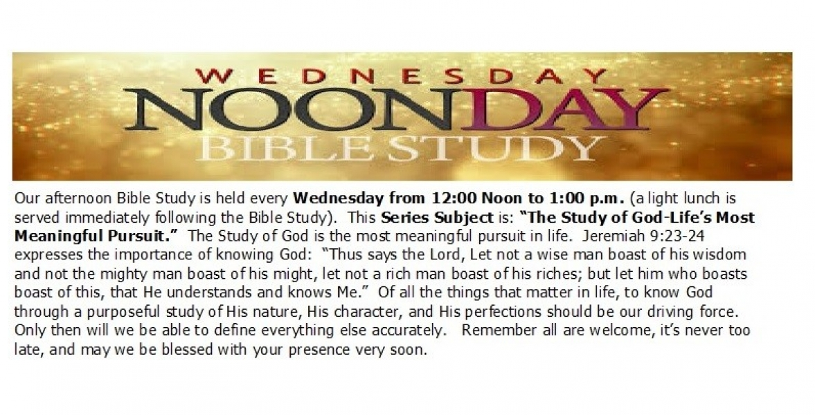 Noonday Bible Study