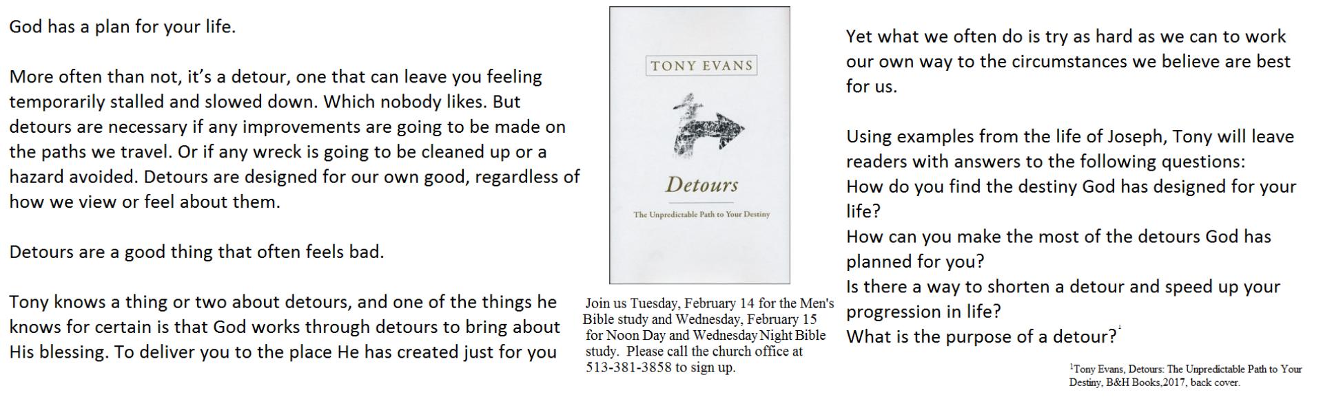 Tony Evans Detours