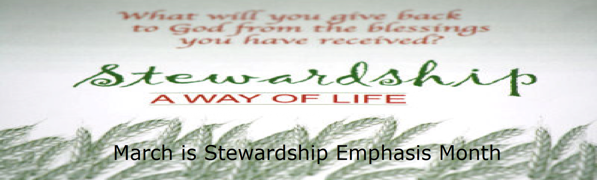 Stewardship Emphasis Month