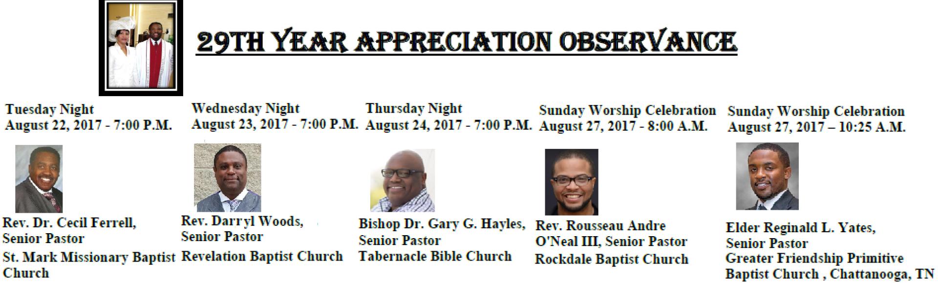 29th Appreciation Observance