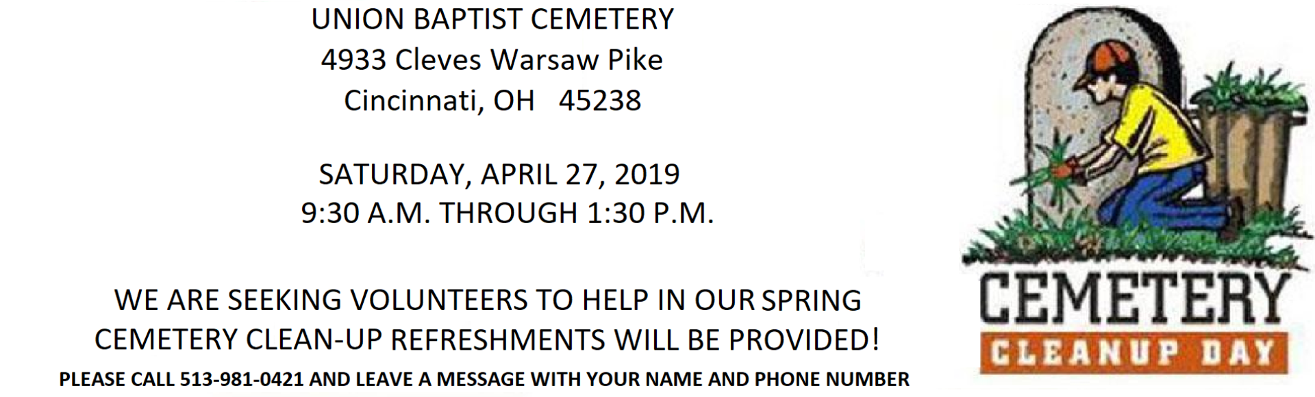 2019 Cemetery Cleanup II
