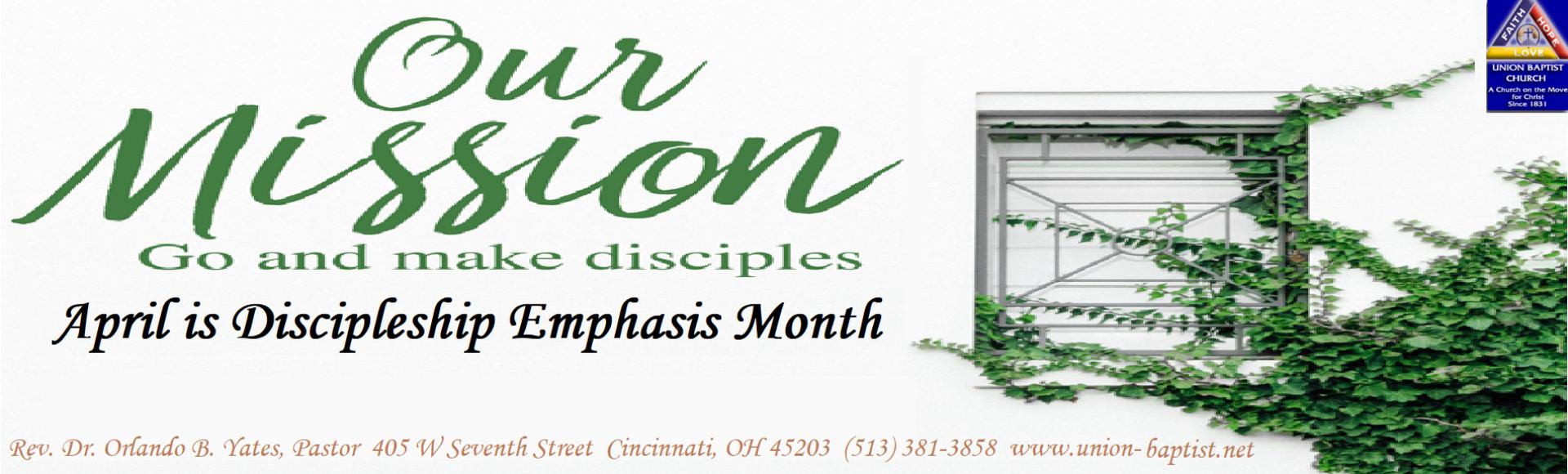 April – Discipleship Emphasis