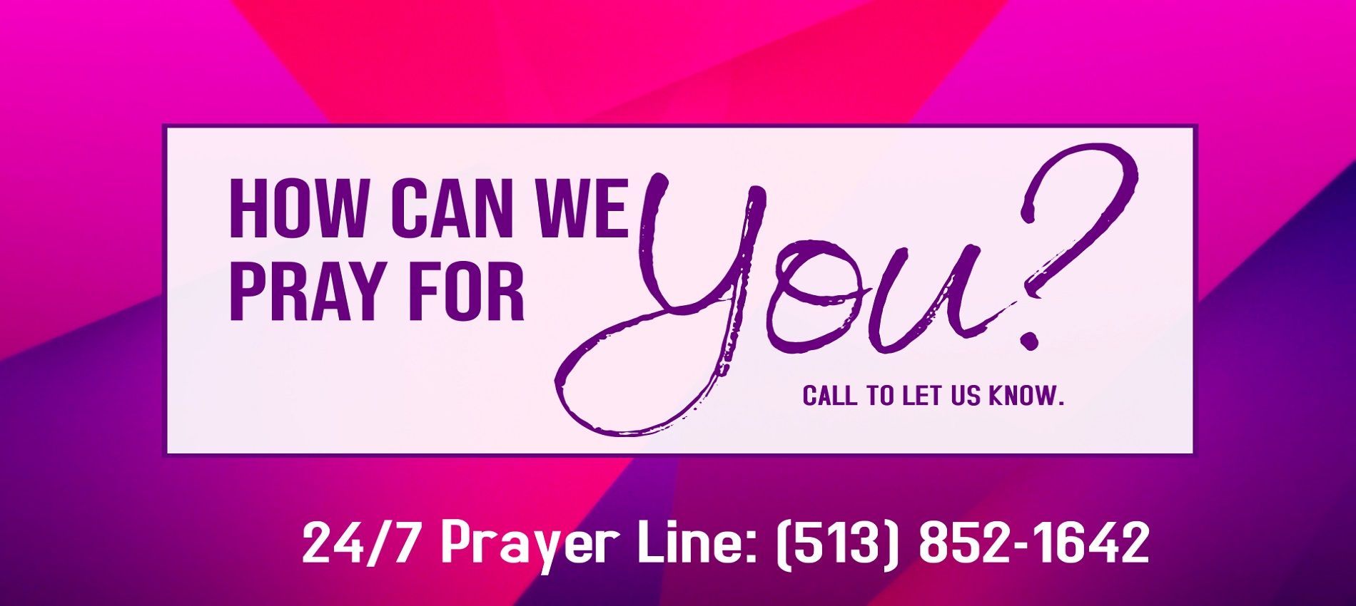 Prayer Line Banner
